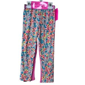 Girls floral & pink solid legging pack of 2 size 5